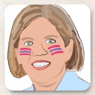 Elizabeth Warren - Native American? Drink Coaster
