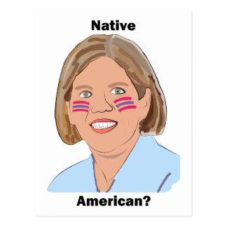 Elizabeth Warren - Native American? Postcard
