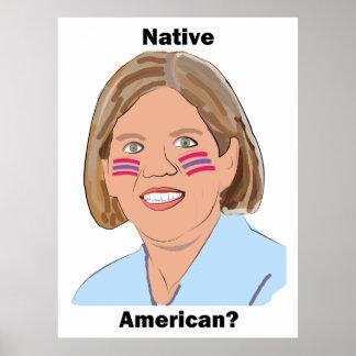 Elizabeth Warren - Native American? Poster