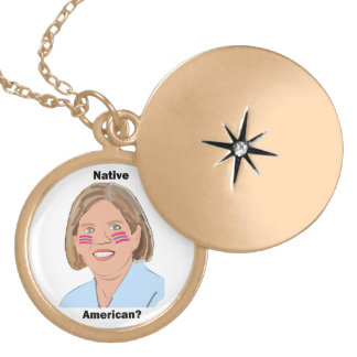 Elizabeth Warren - Native American? Round Locket Necklace