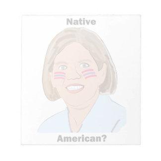 ¿Elizabeth Warren - nativo americano Bloc De Papel