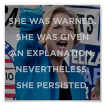 Elizabeth warren nevertheless she persisted poster