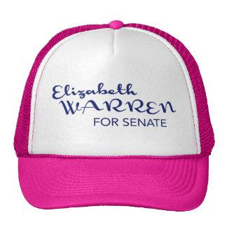Elizabeth Warren para el casquillo del senado de M Gorro De Camionero