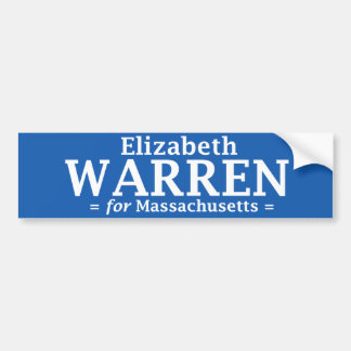 Elizabeth Warren para el pegatina de Massachusetts Etiqueta De Parachoque