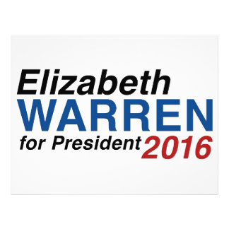 Elizabeth Warren para el presidente 2016 Plantilla De Membrete