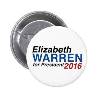 Elizabeth Warren para el presidente 2016 Pins