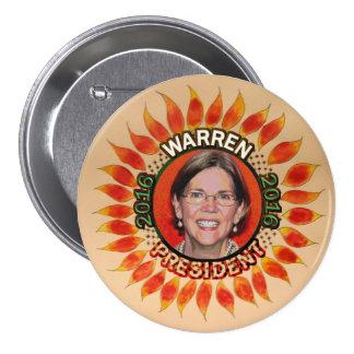Elizabeth Warren para el presidente 2016 Pin