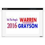 Elizabeth Warren para el presidente 2016 38,1cm Portátil Calcomanía