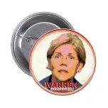 Elizabeth Warren para el presidente en 2016 Pin