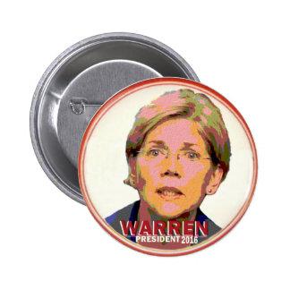 Elizabeth Warren para el presidente en 2016 Pin Redondo De 2 Pulgadas
