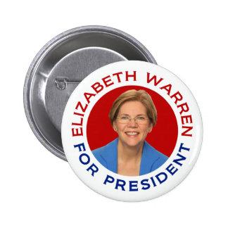 Elizabeth Warren para el presidente Pin Redondo 5 Cm