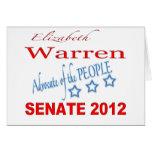 Elizabeth Warren para el senado 2012 Felicitación