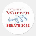 Elizabeth Warren para el senado 2012 Pegatinas