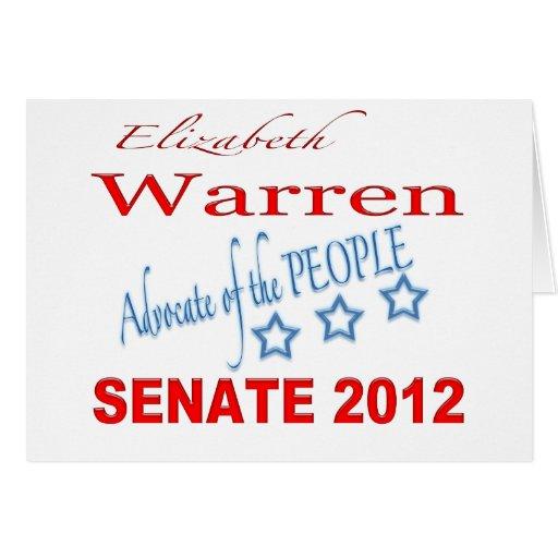 Elizabeth Warren para el senado 2012 Tarjeta De Felicitación