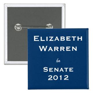 Elizabeth Warren para el senado Pin
