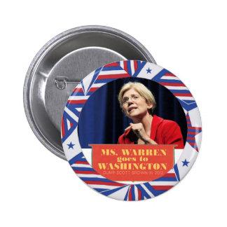 Elizabeth Warren para el senador 2012 Pin Redondo 5 Cm
