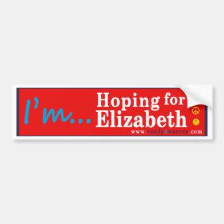 Elizabeth Warren para la pegatina para el Pegatina Para Coche