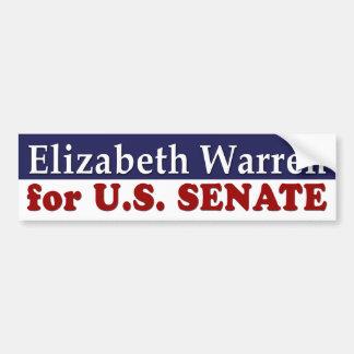 Elizabeth Warren para la pegatina para el parachoq Etiqueta De Parachoque