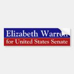 Elizabeth Warren para la pegatina para el parachoq Pegatina De Parachoque