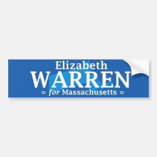 Elizabeth Warren para Massachusetts Pegatina De Parachoque