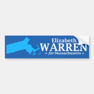 Elizabeth Warren para Massachusetts Pegatina Para Auto