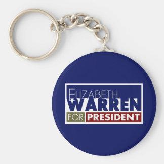 Elizabeth Warren para presidente V1 Llavero Redondo Tipo Pin