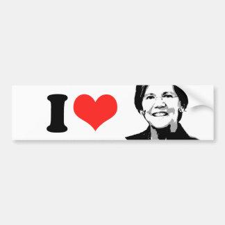 Elizabeth Warren --.png Car Bumper Sticker