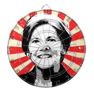 Elizabeth Warren Portrait Dartboards