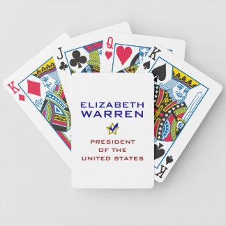 Elizabeth Warren President USA V2 Bicycle Playing Cards