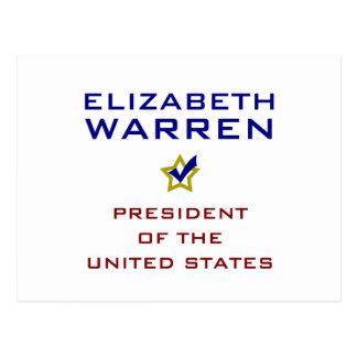 Elizabeth Warren President USA V2 Postcard