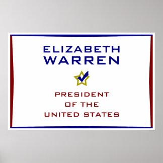 Elizabeth Warren President USA V2 Poster