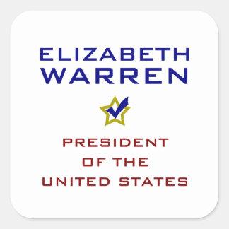 Elizabeth Warren President USA V2 Sticker