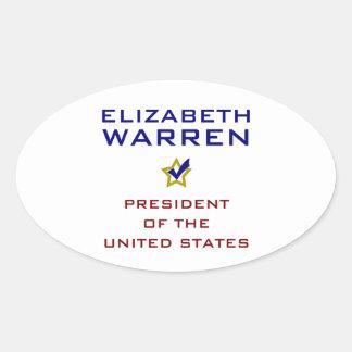Elizabeth Warren President USA V2 Oval Sticker