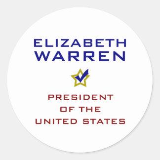 Elizabeth Warren President USA V2 Stickers