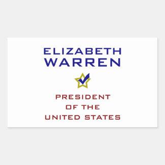Elizabeth Warren President USA V2 Rectangle Sticker