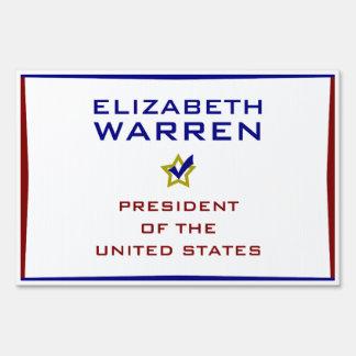 Elizabeth Warren President USA V2 Lawn Signs