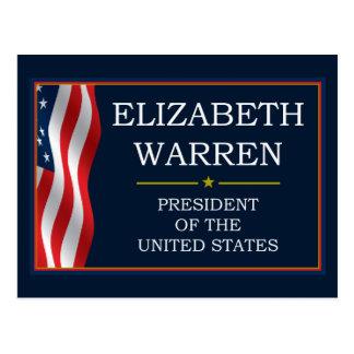 Elizabeth Warren President V3 Postcard