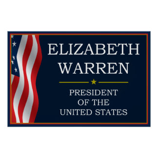 Elizabeth Warren President V3 Print