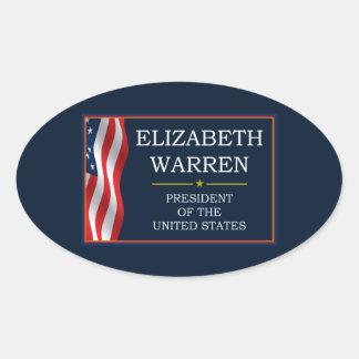 Elizabeth Warren President V3 Oval Stickers