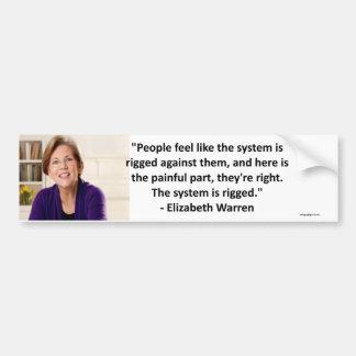 Elizabeth Warren - se apareja el sistema Pegatina Para Auto