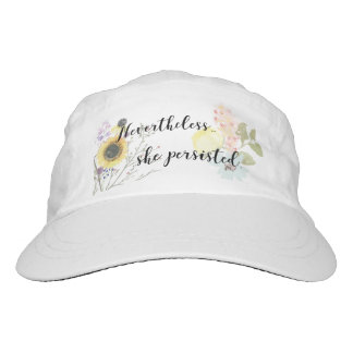 Elizabeth Warren She Persisted Calligraphy Quote Headsweats Hat