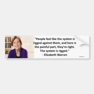 Elizabeth Warren - the system is rigged