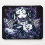 Elizabeth White Persian Cat Angel Mousepad