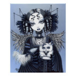 Elizabeth White Persian Cat Angel Poster