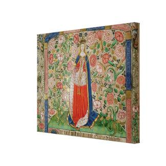 Elizabeth Woodville  Queen Consort of King Canvas Print