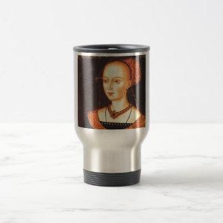 "Elizabeth Woodville ""The White Queen"" 15 Oz Stainless Steel Travel Mug"