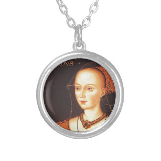 """Elizabeth Woodville """"The White Queen"""" Silver Plated Necklace"""