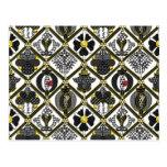 Elizabethan Blackwork tile Postcard