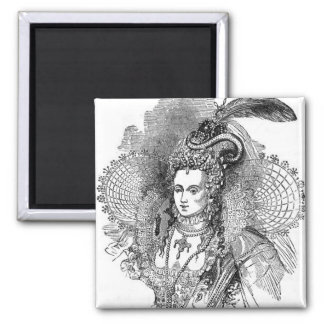 Elizabethan Clothing 2 Inch Square Magnet