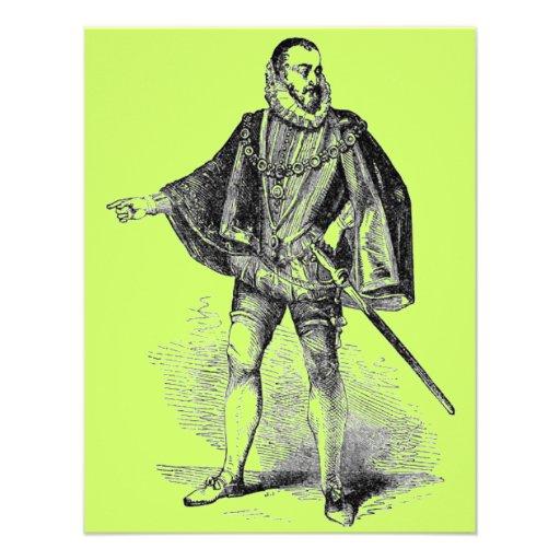 Elizabethan Clothing Personalized Invitation